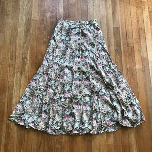SALE!! 5/$25 Vintage Express Button Maxi Skirt